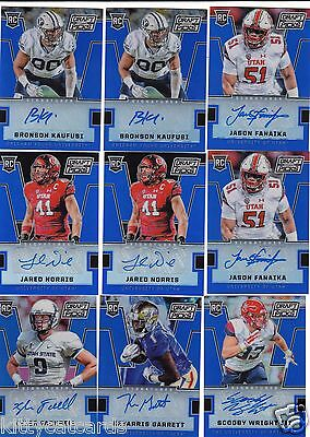 2016 Prizm Draft Picks Blue Prizms Refractor Auto Jared Norris #264 Utah