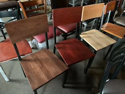 New Restaurant Wood Metal Chairs In Mahogany (Walnut , Cherry ,Natural Color)