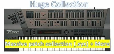 ROLAND JD 800 990 Sysex Patches - Utility, Expansion, Upgrade