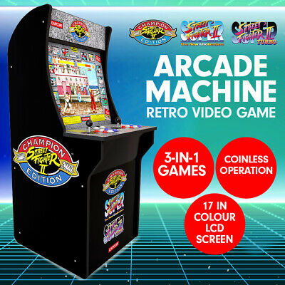New 3-in-1 Arcade Game Machine Street Fighter Gaming Console Cabinet Arcade1UP