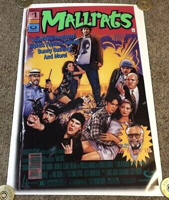 Original 1995 MALLRATS Movie Poster, Rolled, SS, 27x40