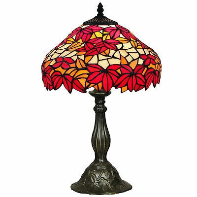 NEW One Light Table Lamp in Red - Forest Tiffany,Lamps