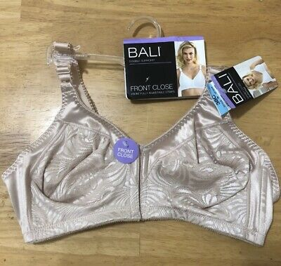 234522d1b98 NWOT Bali 38C Double Support Front Close Wire Free Bra DF1003 Beige  57278