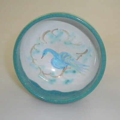 Robert And Margot Beck Pottery Footed Bowl Decorated With A Stylised Bird