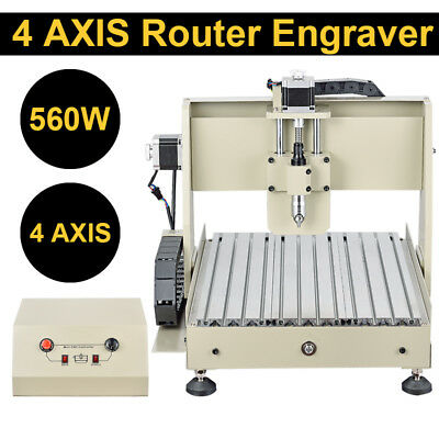 4 Axis 3040 CNC Router Engraver Engraving Machine Drilling Milling Woodworking