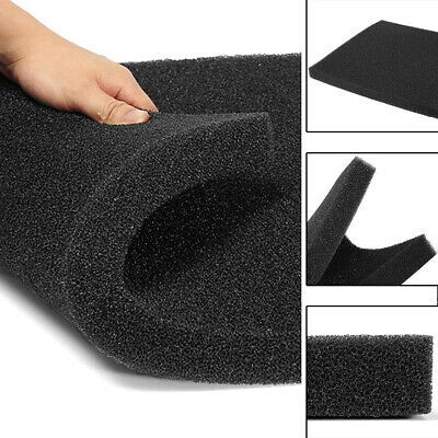 Universal Activated Carbon Foam Sponge Air Impregnated Sheet Filter Pad Black