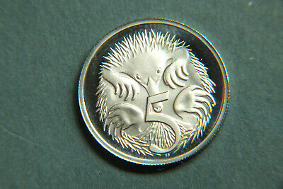 1986 Australia Proof 5 Cent Coin.