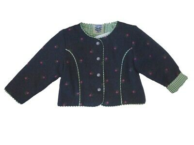 Traditional Costume Jacket Cardigan for Girls Anthracite Size 68