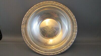 Frank M Whiting Talisman Rose Sterling Silver  Dish 96.3 grams ESTATE FIND