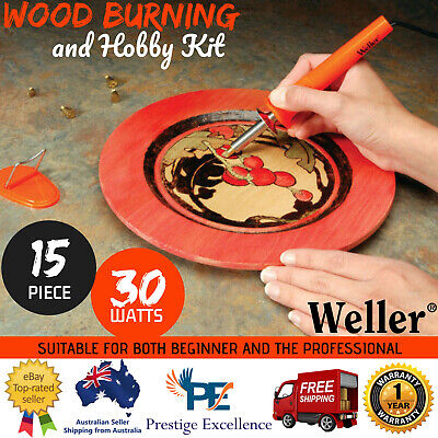 Weller Pyrography Wood Burning and Hobby Kit 15 Piece Craft Art Tool Burner Set