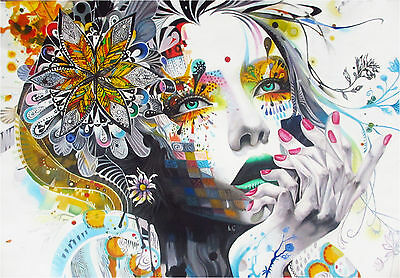A0 painting canvas graffiti street art print Urban princess modern Australia