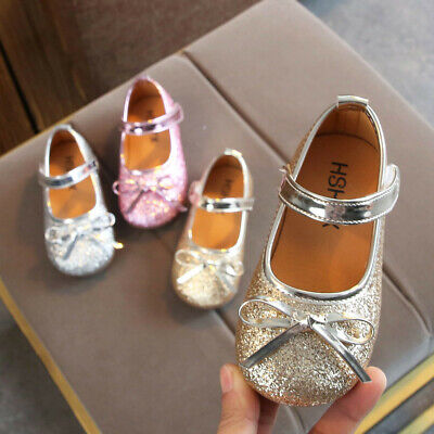 3a600c1291f5 Toddler Infant Kid Baby Girls Bling Sequins Bowknot Dance Princess Shoes  Sandals