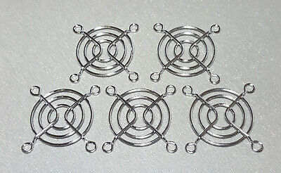 1/2/5Pcs 50mm Square Metal Fan Finger Guard Grill 5cm 3 Rings Qualtek
