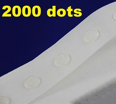 2000 Glue Dots Sticky Craft Clear Card Making Removable 12mm STRONG GLU DOTS