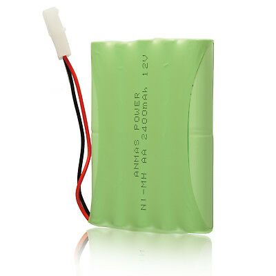 12V 2400mAh Ni-MH Rechargeable Battery Cell Tamiya Plug For RC Toy Car -Green