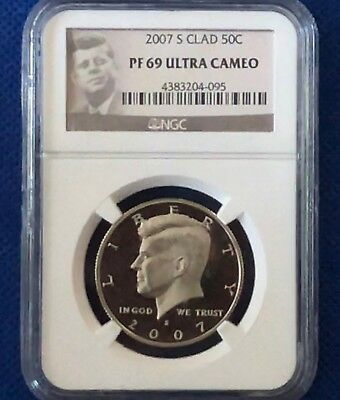 2007-S 50c (Proof) Kennedy Half-Dollar: NGC PF69 Ultra Cameo **JFK Label**