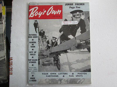 Vintage Boys Own Paper From November 1964 Very Good Used