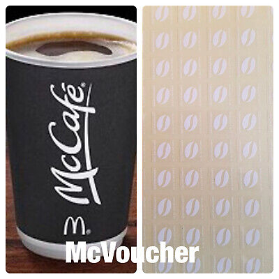 120 McDONALDS COFFEE BEAN STICKERS  LOYALTY VOUCHERS VALID  DEC 2019 ULTRAVIOLET