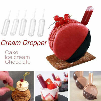 50pcs/set Newest 4ml Ice Cream Jelly Milkshake Droppers Pipette Disposable Straw
