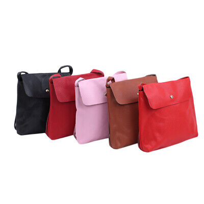 Ladies Shopping Bags Leather Button Crossbody Stylish Shoulder Bag Handbag BS