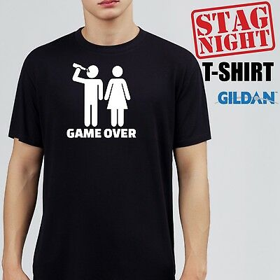 c61730e3 FUNNY STAG NIGHT BACHELOR PARTY T-shirt mens Wedding Ring cake invite groom  suit