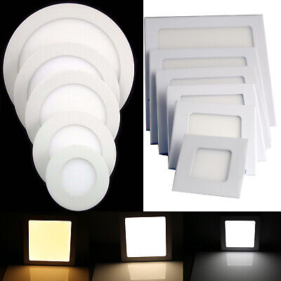Dimmable LED Recessed Ceiling Panel Downlights 9W 15W 18W 21W 27W Epistar Bulbs