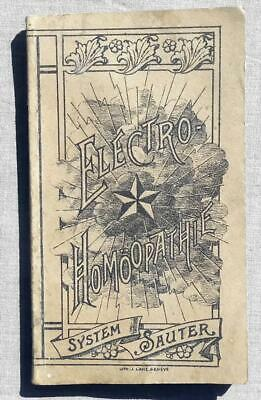 Electro - Homöopathie System Suter 1898