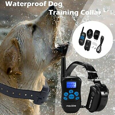 DOG SHOCK TRAINING E COLLAR W/ Remote Rechargeable Waterproof Small Medium Dogs