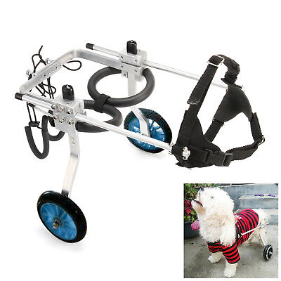 Stainless Steel Pet Dog Cat Wheelchair For Handicapped L / M/ S Dog 2 Wheels