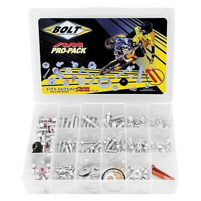 BOLT SUZUKI RM / RMZ PRO KIT 190pc Fastener bolt Kit track pack.