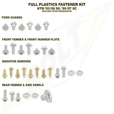 Full Plastics Fastener bolt Kit. KTM XC all models 2005-2007