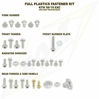 Full Plastics Fastener bolt Kit. KTM EXC  all models 2008-2011