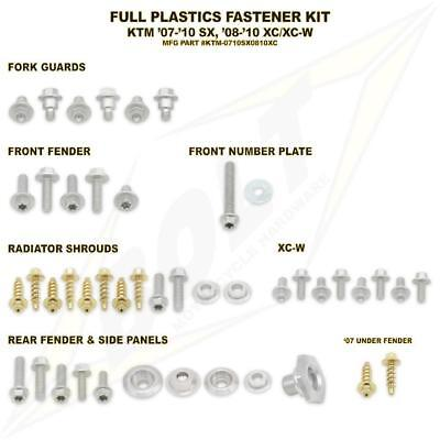 Full Plastics Fastener bolt Kit. KTM SX all models 2007-2010