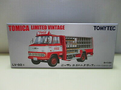 TOMY TEC Tomica Limited Vintage LV-92a 1/64 Nissan 3.5t Truck Coca Cola