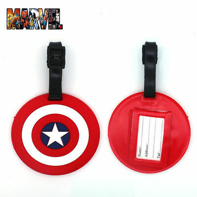 Marvel Avengers Captain America Luggage Tag Travel ID Addres Baggage Tags Label