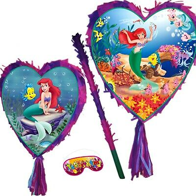 Little Mermaid Pinata set Girls Smash Party Fun Princess UK Ariel under the sea
