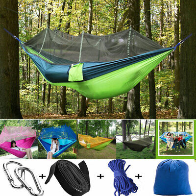 Double Outdoor Person Travel Camping Hanging Hammock Bed Mosquito Net Set Tent