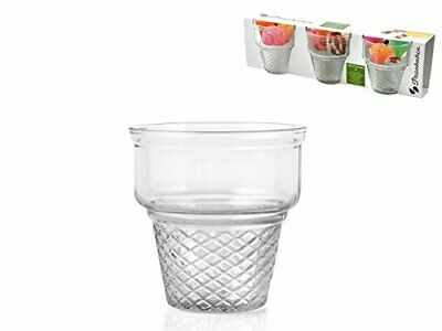 Ice Cream Cornet Glass Cups - 3 Pack