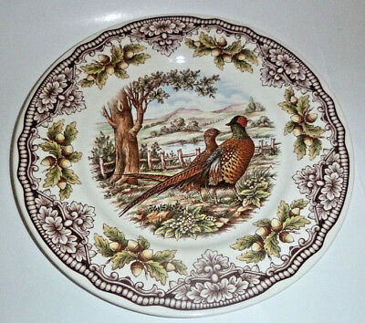 """The Victorian English Pottery Pheasant Woodland One 11"""" Dinner Plate"""