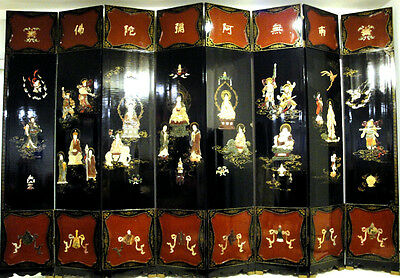 Antique Chinese Screen  Eight Panel  Very Rare!