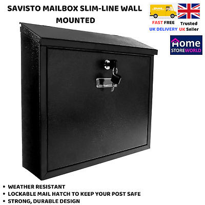 Rear Access Letter Box.W3 5 Rear Access Post Box For Gate Or Door Mounting 52 99