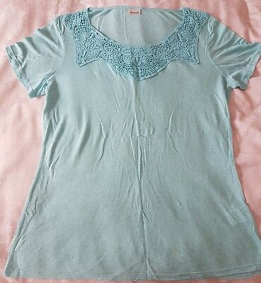 b49feef64b0 Ladies Size 14/16 Lace/embroidered front Top By Damart worn twice lovely  cond
