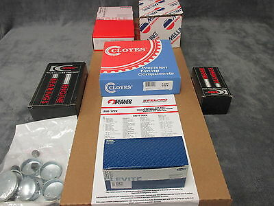 Mercruiser 470 485 3.7L 224ci engine kit gaskets bearings rings Habla Espanol