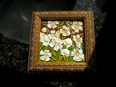 Arts &  Crafts  Embossed Tile Maw & Co. c.1895 Framed