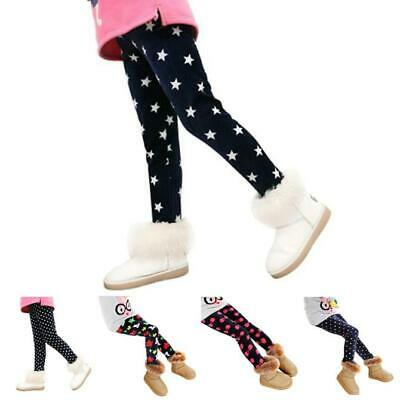 Winter Girl Child Velvet Leggings Trousers Elastic Waist Legging Clothing Pants