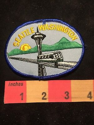Vtg Seattle Washington Patch - Space Needle Architecture & Link Light Rail S88U