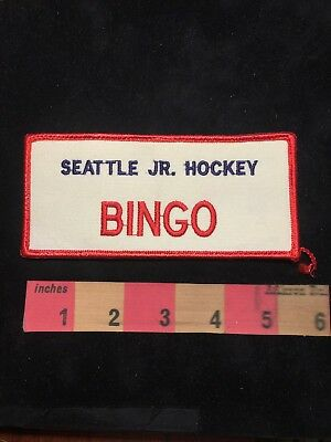 Washington Patch SEATTLE JUNIOR HOCKEY BINGO S88U