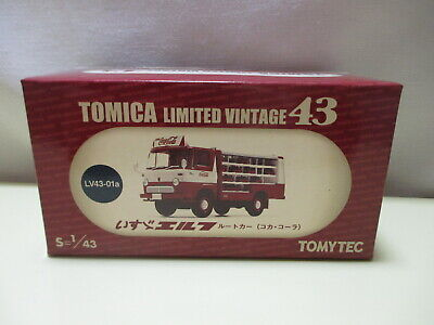 Tomica Limited Vintage LV43-01a 1/43 Isuzu Elf Route Car Truck Coca Cola Red