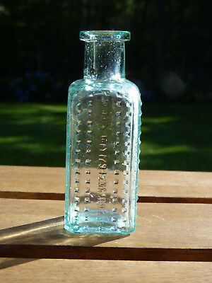 Vapo Cresolene Co Hobnail Aqua Antique Bottle 4""