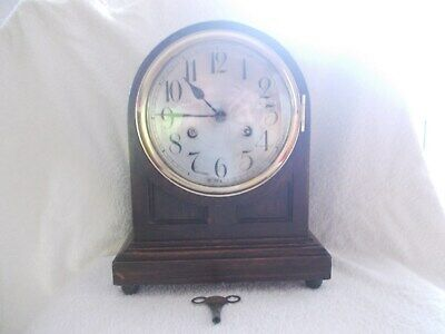 Old Junghans bracket/ mantel clock in working order with a key.